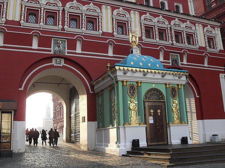 Часовня в честь Иверской иконы Божией Матери на Красной площади, Москва, фото