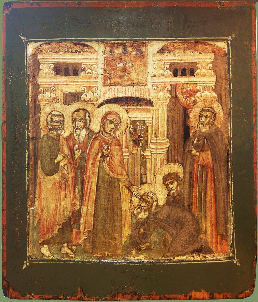 Икона Явление Богоматери преподобному Сергию Радонежскому