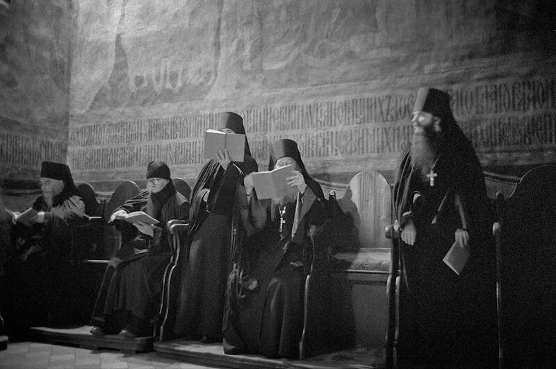 Православные монахи Свято-Троицкая Сергиева Лавра