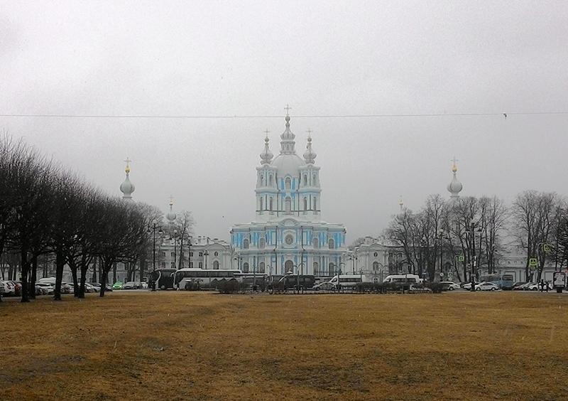 Смольный собор зимой, Санкт-Петербург