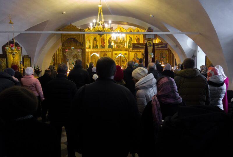 Служба в храме Спаса на Городу в Ярославле