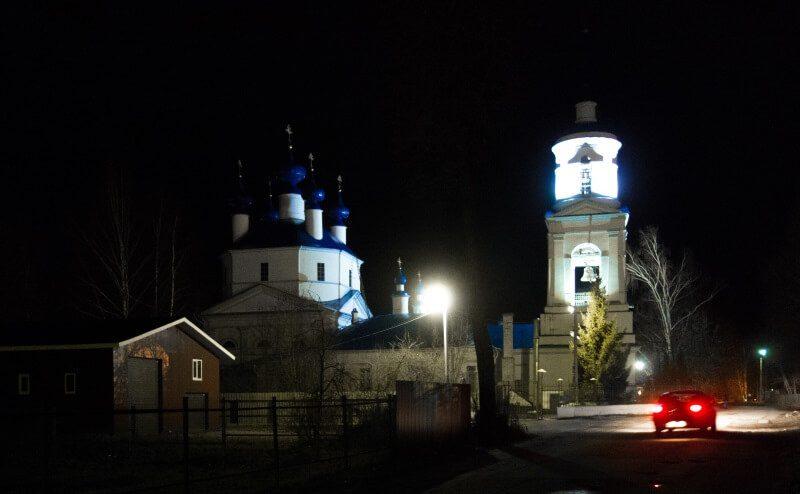 Селихово церковь ночью