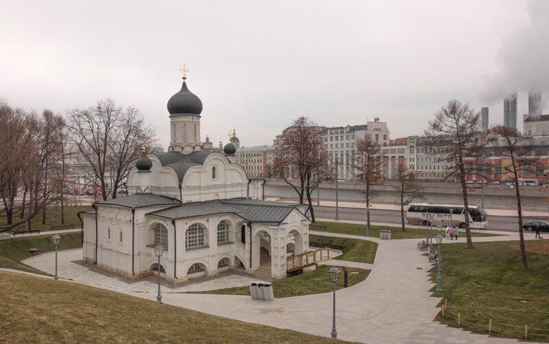 храм зачатия святой Анны, парк Зарядье