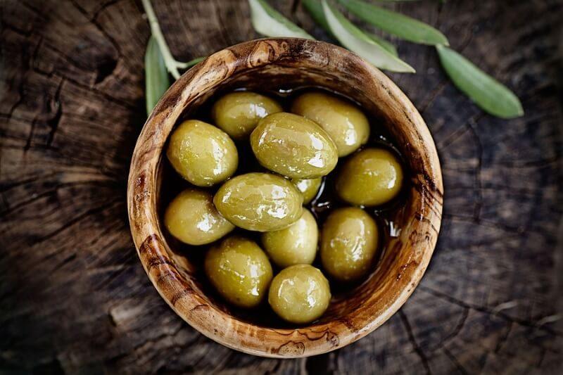 Постные блюда, оливки