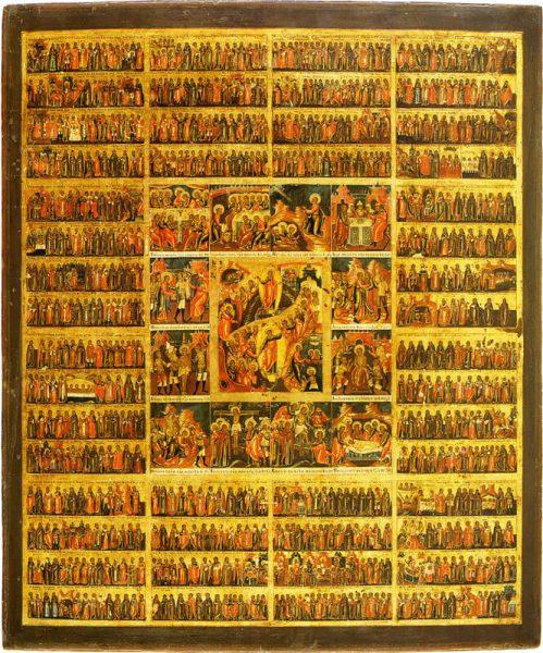 Икона всех святых и главных праздников