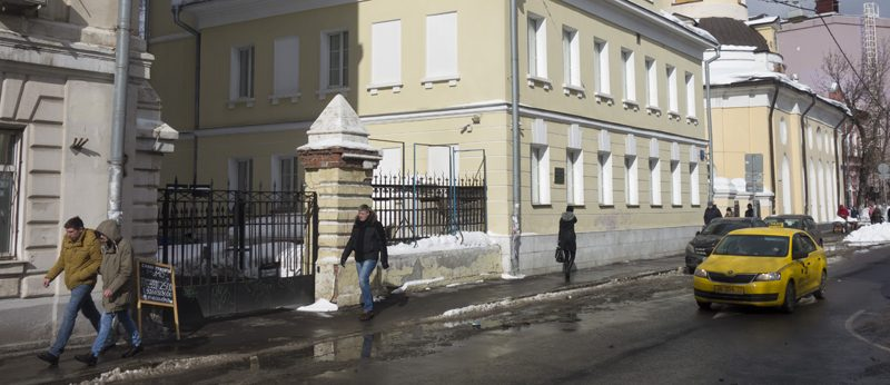 архангельский переулок фото март зима