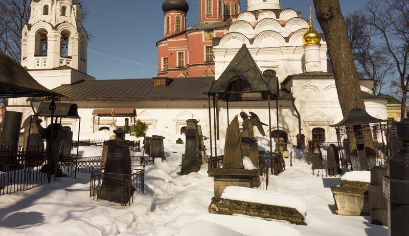 Донской монастырь, фото некрополя
