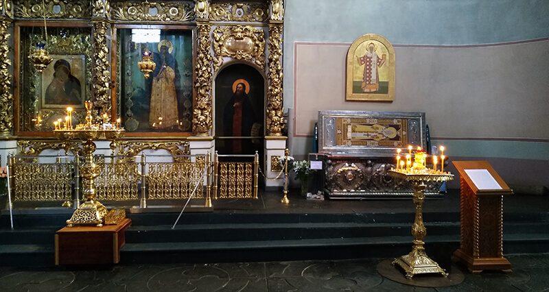 Мощи святителя Тихона в Донском монастыре