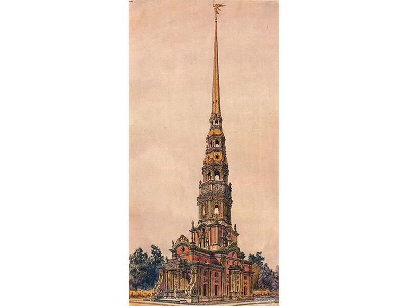 башня меньшикова 18 век