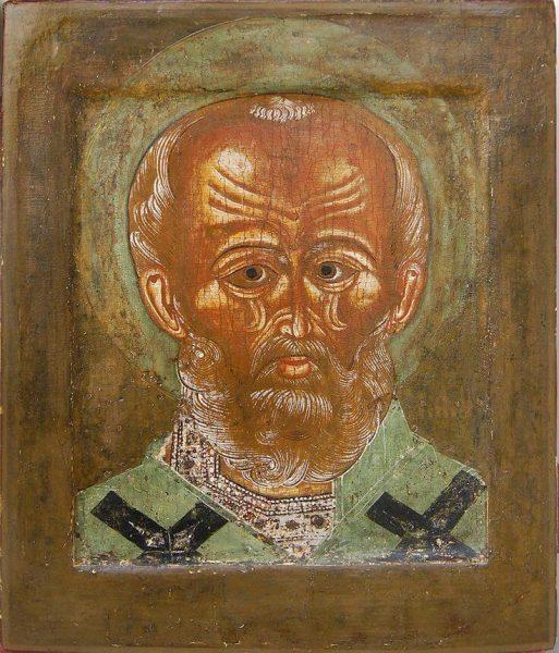 Старинная икона святителя Николая Чудотворца
