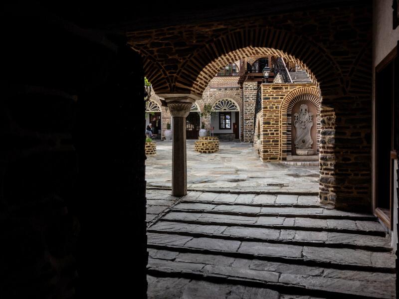 Фото внутри афонского монастыря Пантократор
