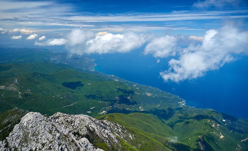 вершина горы афон