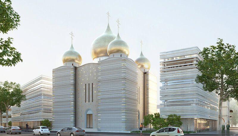 православный собор в Париже фото