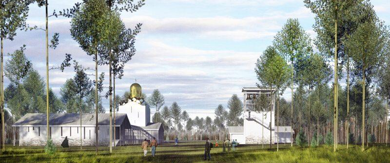 Проект подворья Валаамского монастыря на Левашовском кладбище