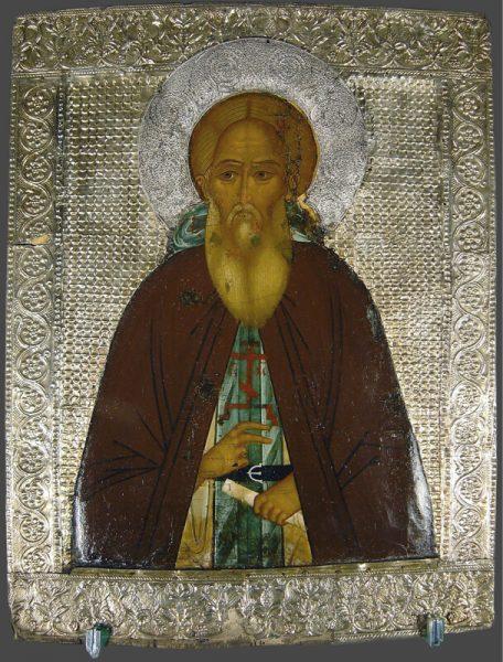 древняя икона преподобного сергия радонежского