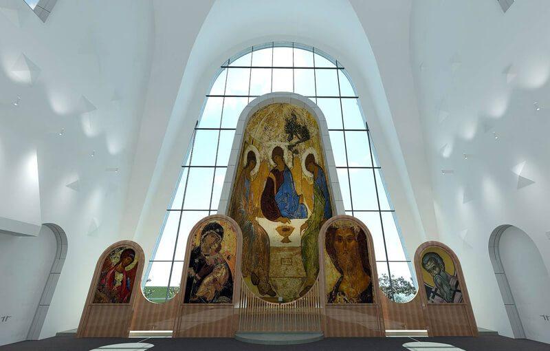 футуристический храм в москве