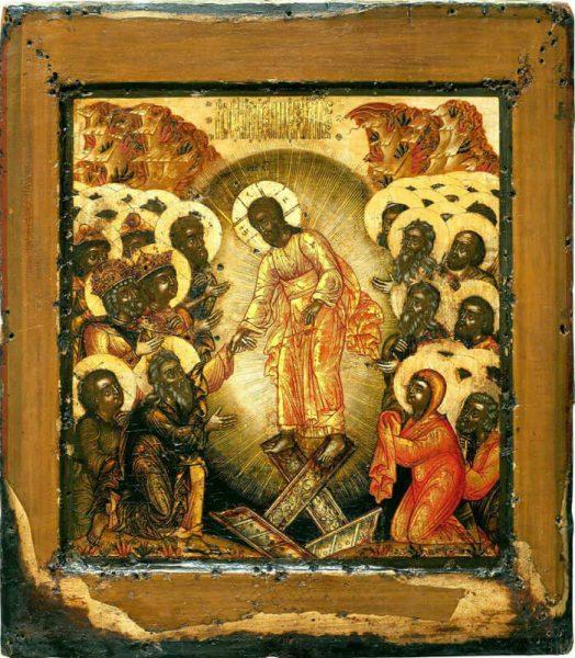 икона сошествие во ад Иисуса Христа