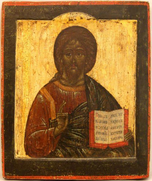 древняя икона Спас Вседержитель