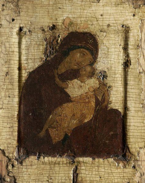 Древняя русская икона Богородицы — Умиление