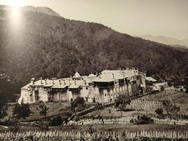Афонский монастырь Филофей, фото 19 века