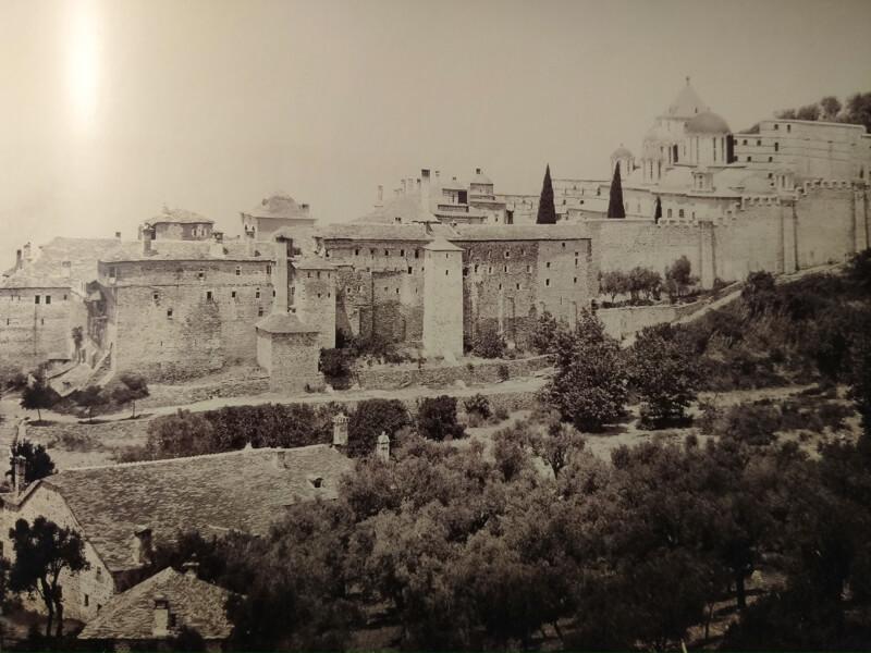 Афонский монастырь Ксенофонт, фото 19 века