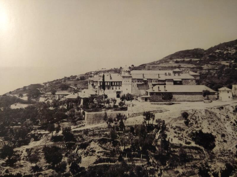 Монастырь Ксиропотам на Афоне, фото XIX век