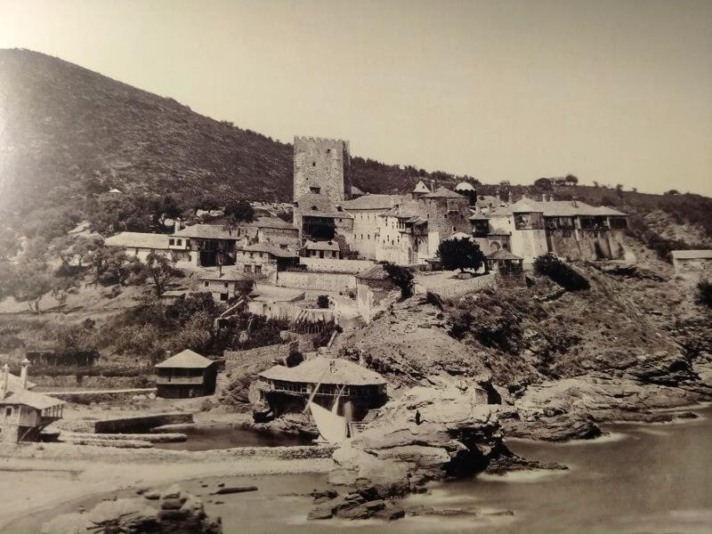 Монастырь Пантократор на Афоне, фото XIX века