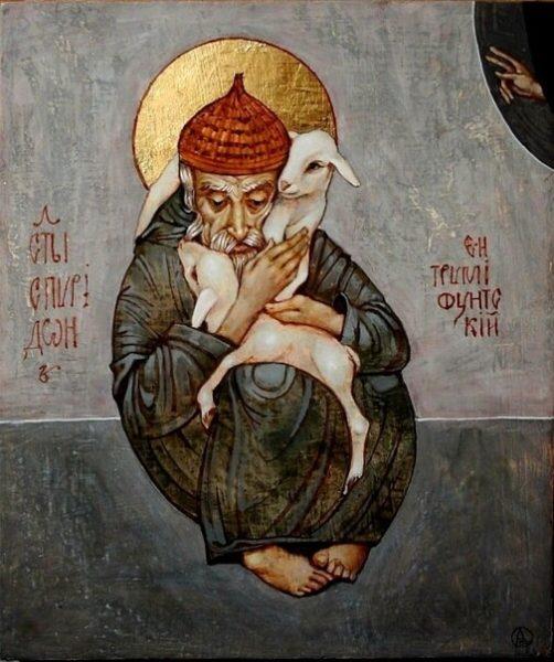 необычная икона Спиридона Тримифунтского