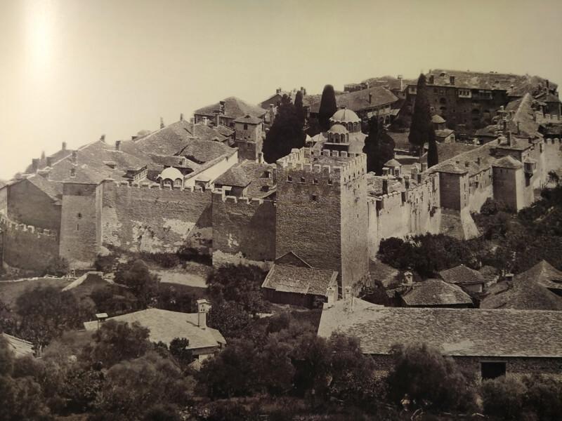 монастырь Великая Лавра на Афоне 19 век