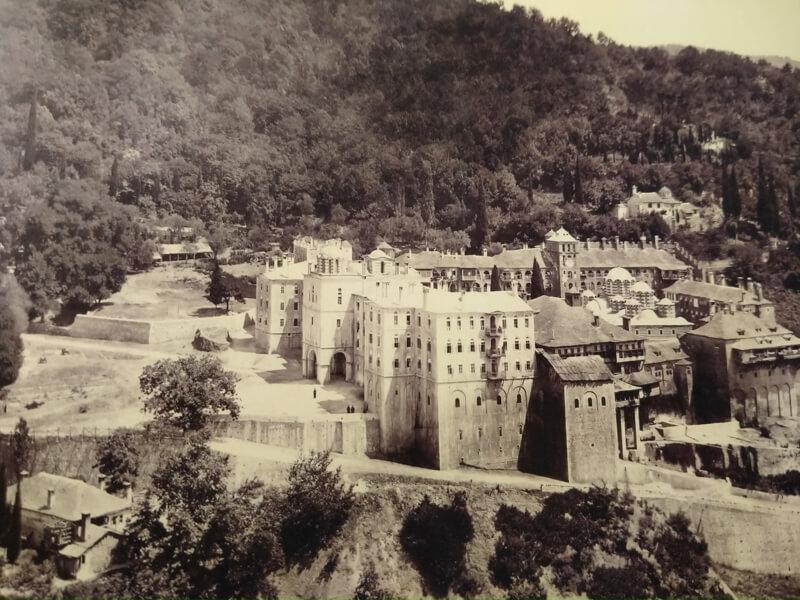 Афонский монастырь Зограф, фото 19 века.