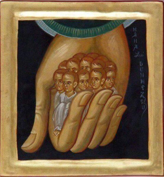 икона душа праведников в Руках Божиих