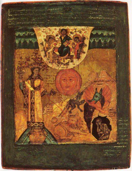 необычная древняя русская икона
