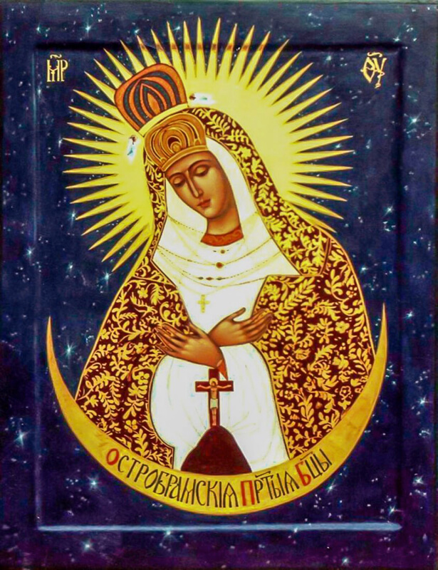 Остробрамская (Виленская) икона Божией Матери синяя