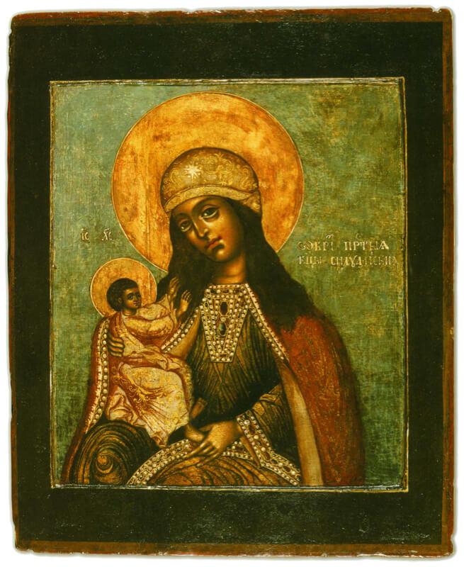 Силуамская икона Божией Матери, XVIII век