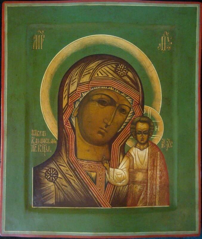 Казанская икона Божией Матери, 19 век