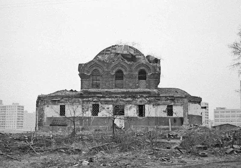 Храм в Бибиреве Ссср